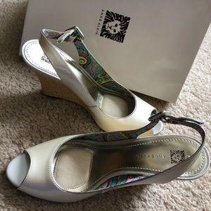 Anne Klein Open Toed Heels. Size 9.5